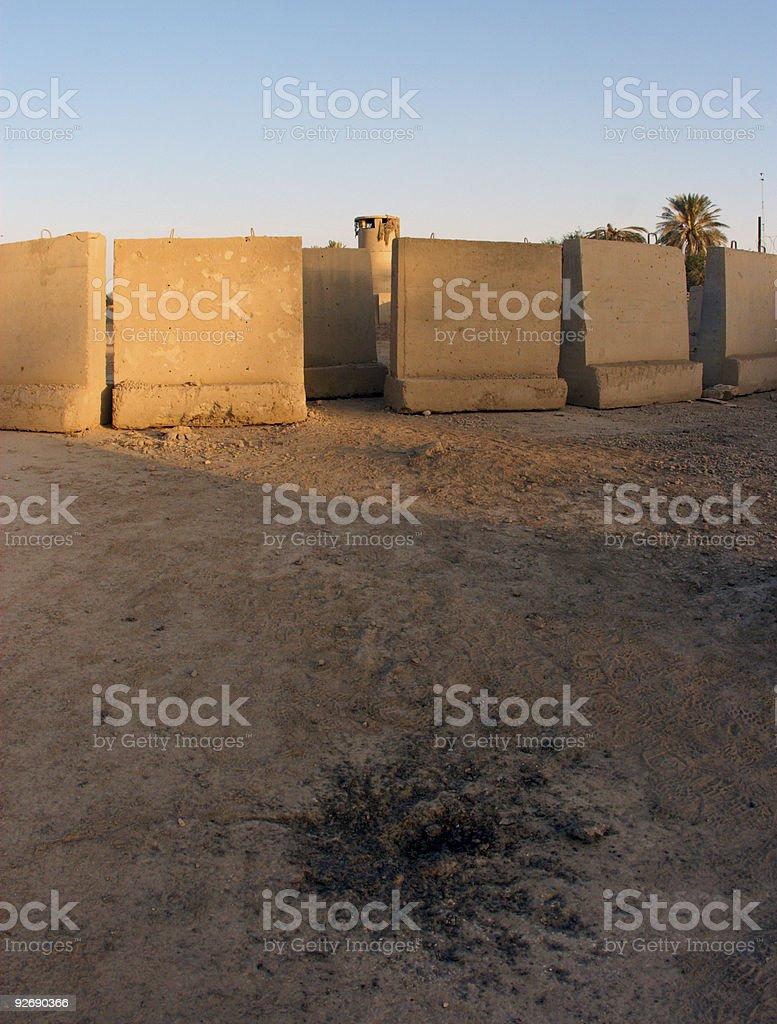 Mortar Crater stock photo