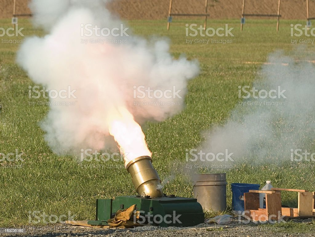 Mortar going off royalty-free stock photo
