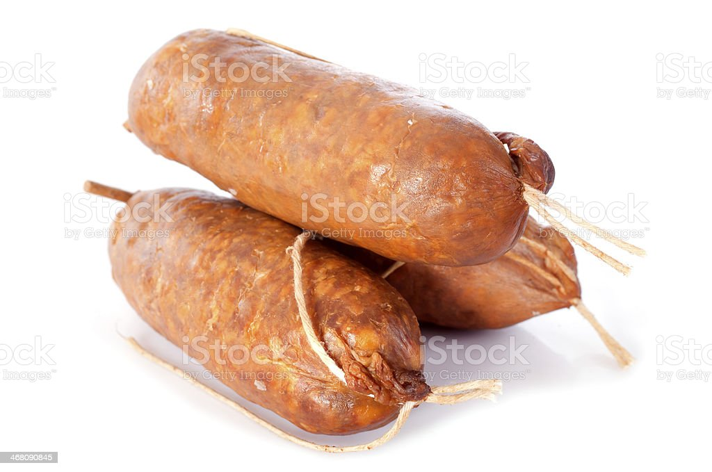 Morteau sausages stock photo