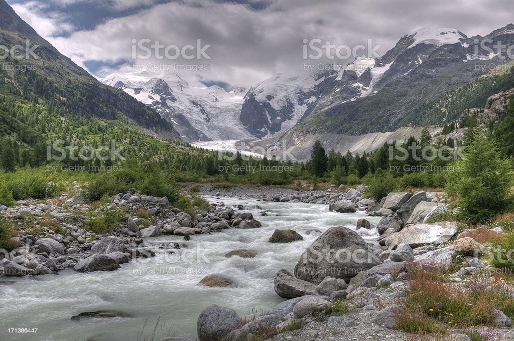 Morteratsch glacier royalty-free stock photo