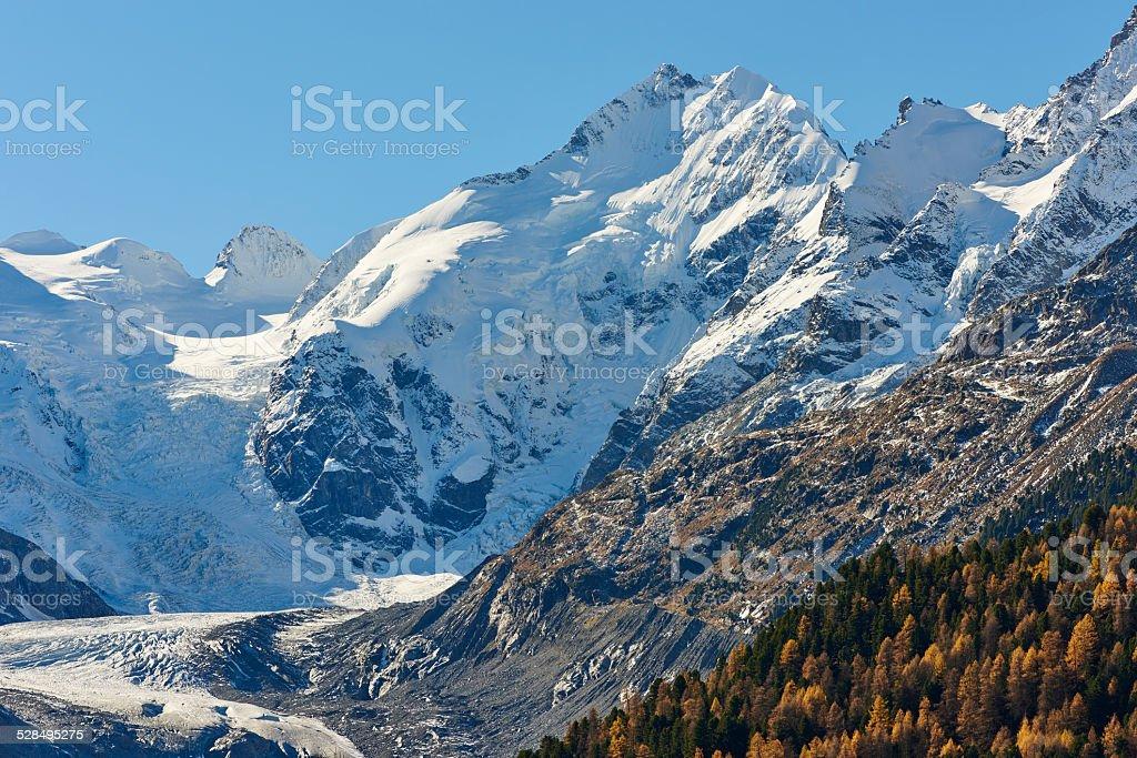 Morteratsch Glacier stock photo