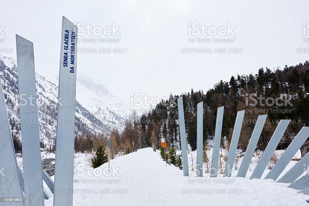 Morteratsch Valley Entry stock photo