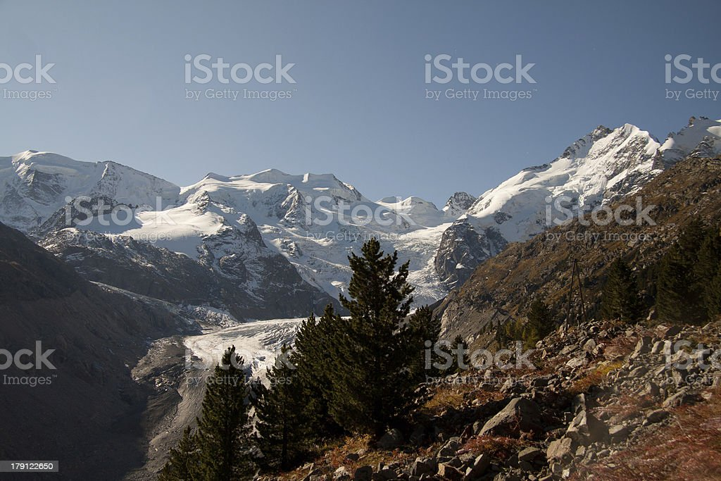 val Morteratsch royalty-free stock photo