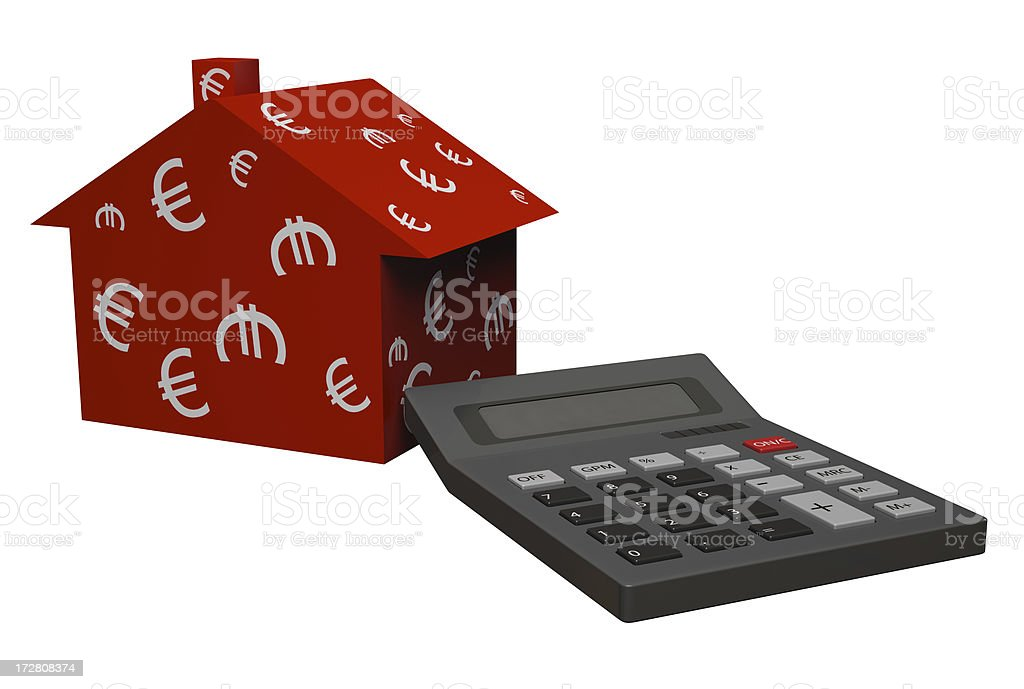 Mortgage and down payment royalty-free stock photo