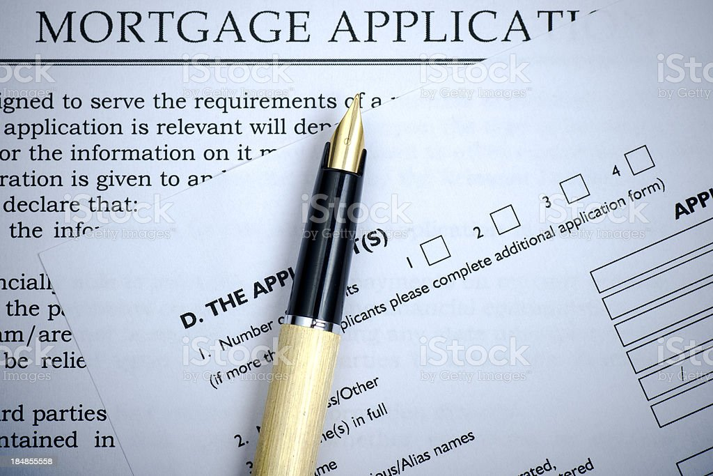 Mortgage Application Form stock photo