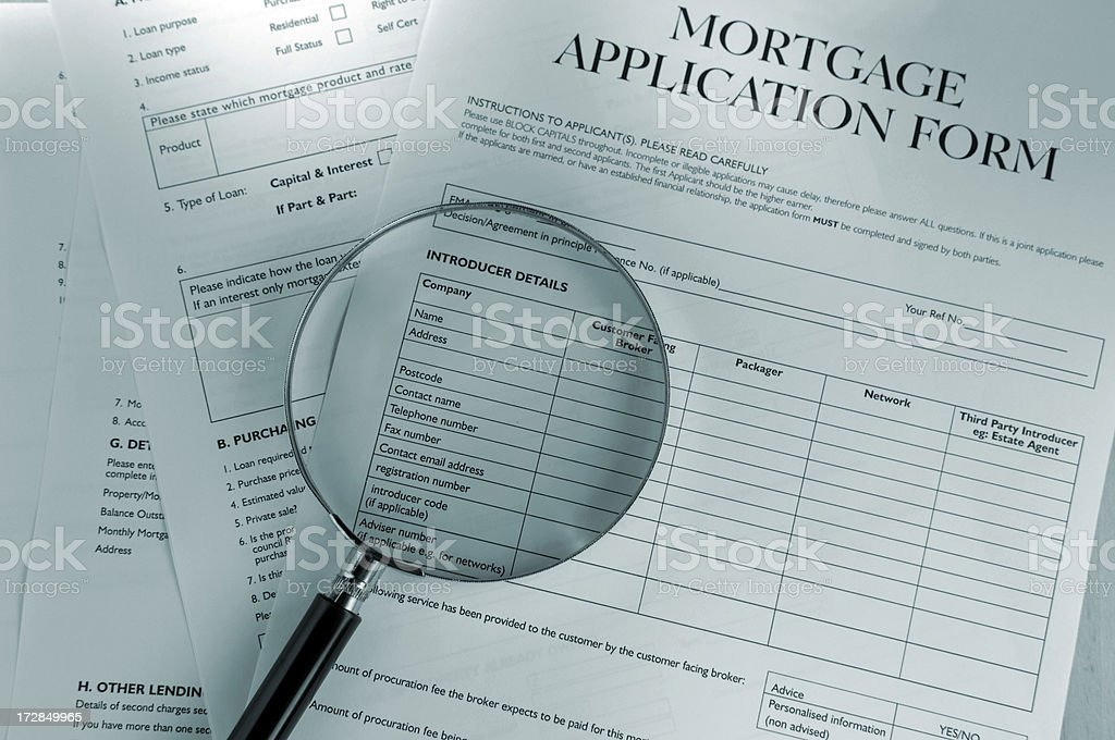 mortgage application form series royalty-free stock photo