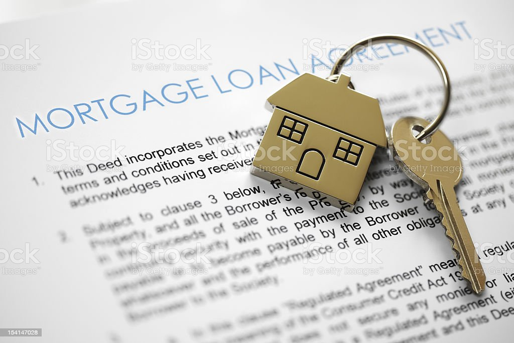 Mortgage application stock photo