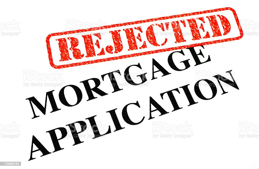 Mortgage Application REJECTED stock photo