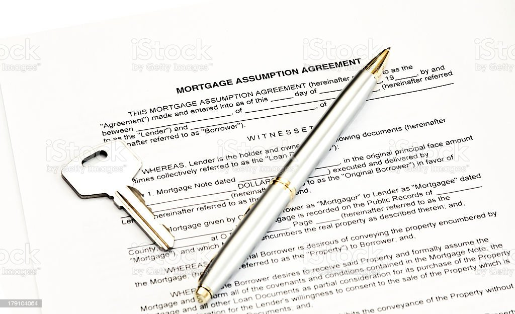 Mortgage assumption agreement royalty-free stock photo