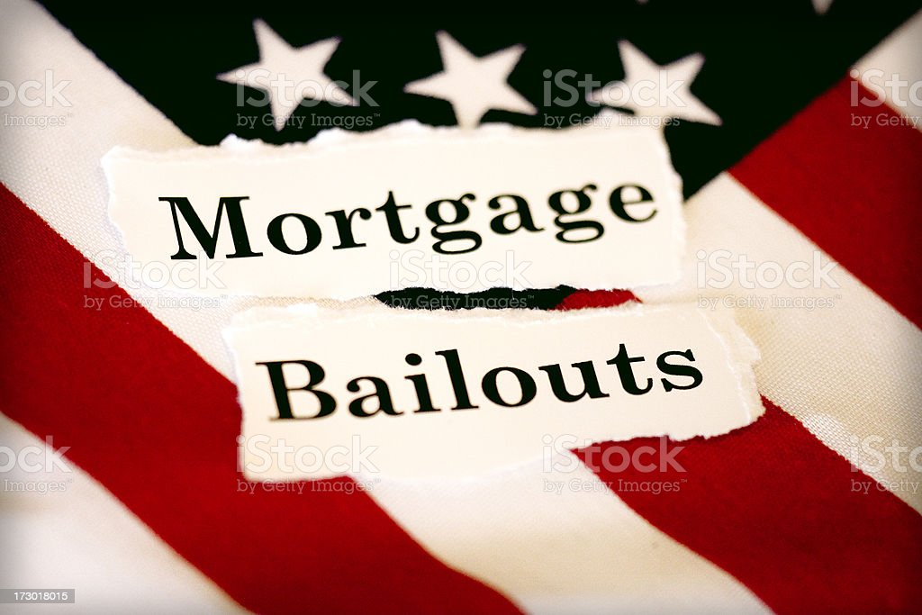 mortgage bailouts royalty-free stock photo