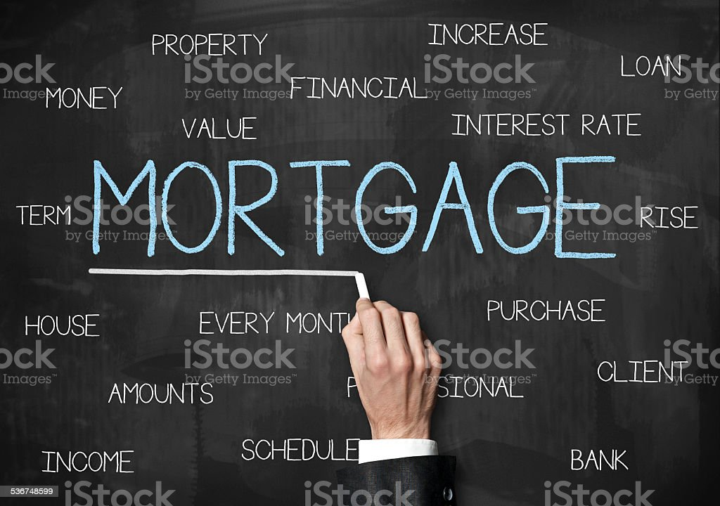 Mortgage / Blackboard concept (Click for more) stock photo