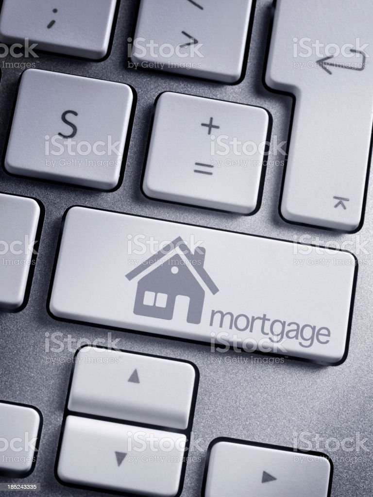 Mortgage button royalty-free stock photo