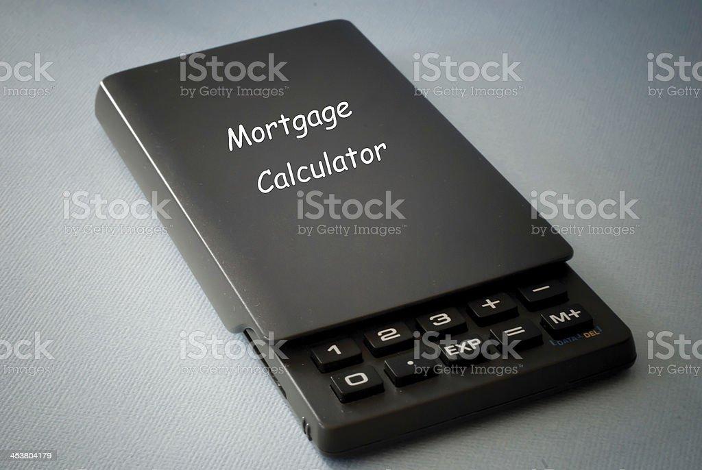 mortgage calculator royalty-free stock photo
