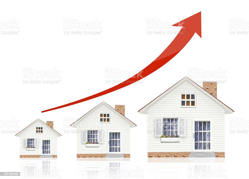 Mortgage concept by money house stock photo
