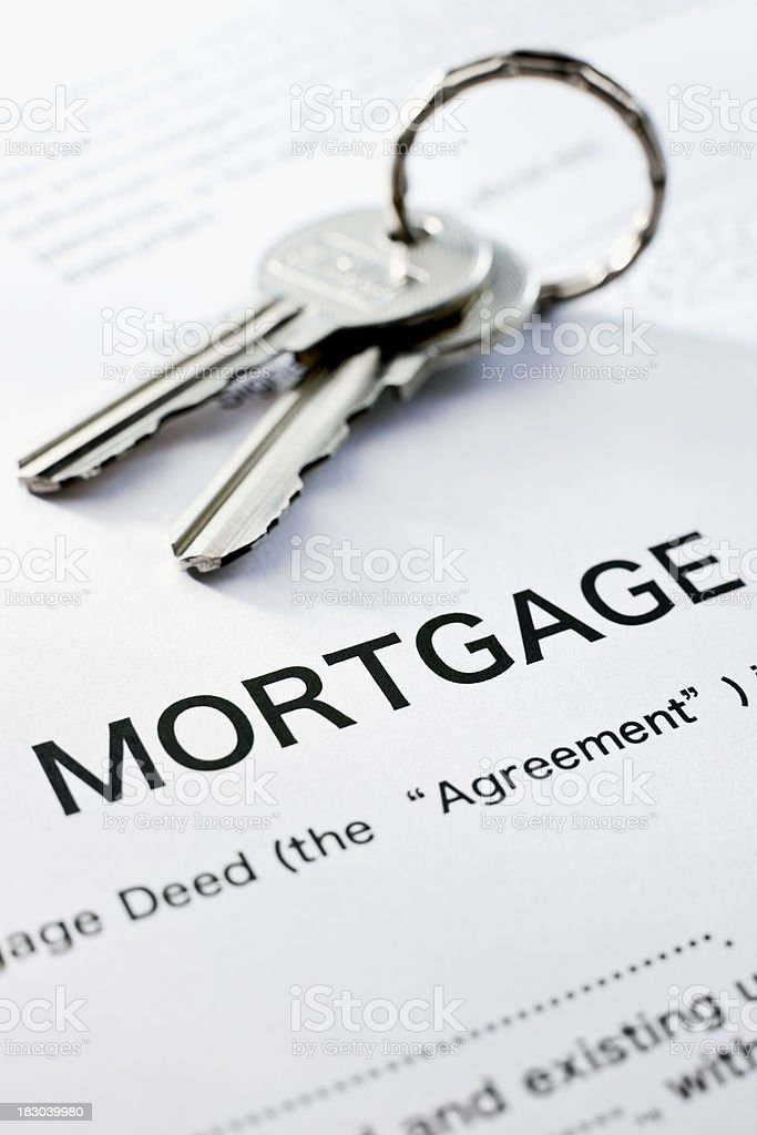 Mortgage Deed and Keys royalty-free stock photo