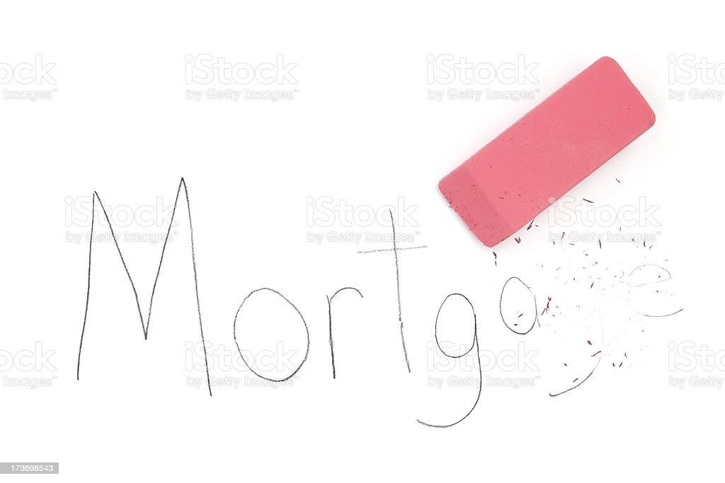 Mortgage Eraser royalty-free stock photo