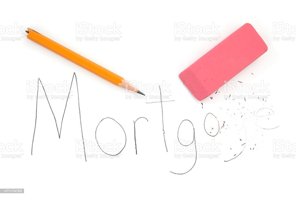 Mortgage Eraser royalty-free stock photo