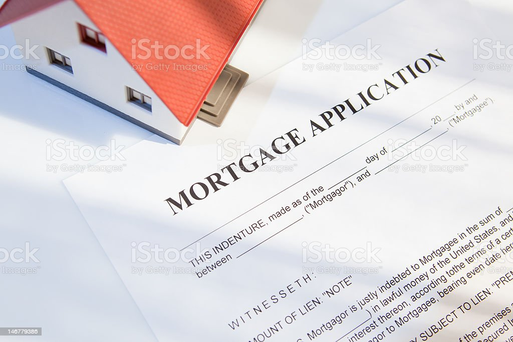 mortgage for real estate stock photo