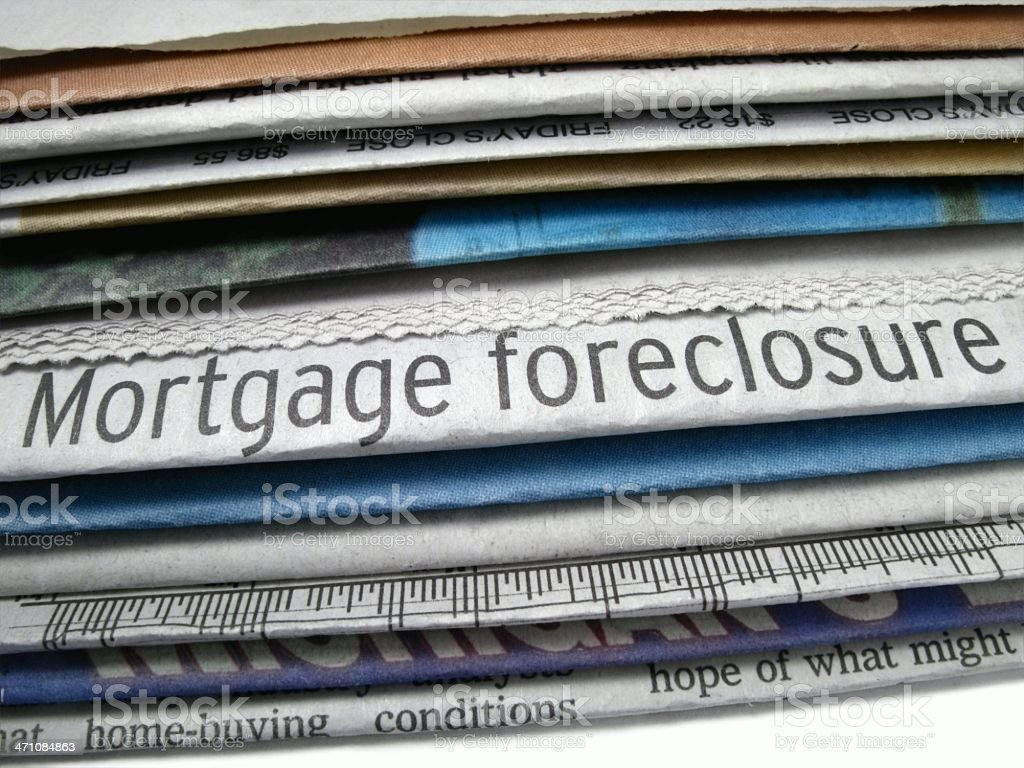 Mortgage Foreclosure royalty-free stock photo