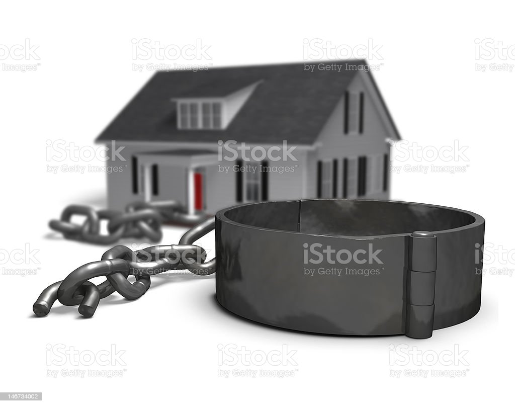 Mortgage Freedom royalty-free stock photo