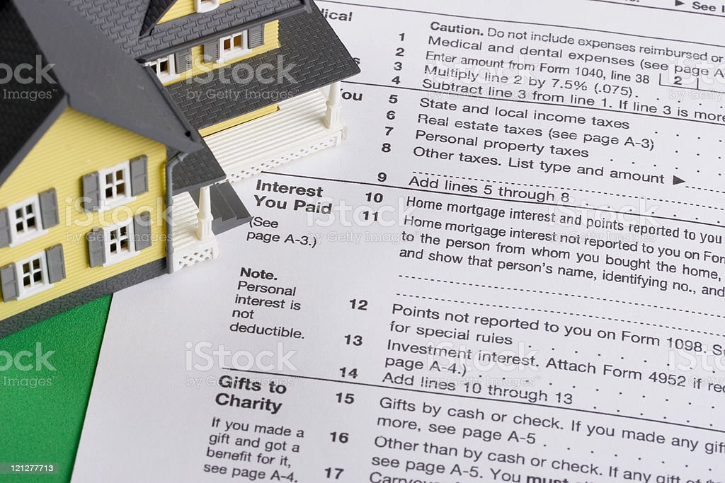 Mortgage interest tax deduction royalty-free stock photo