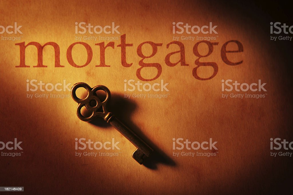 Mortgage key royalty-free stock photo
