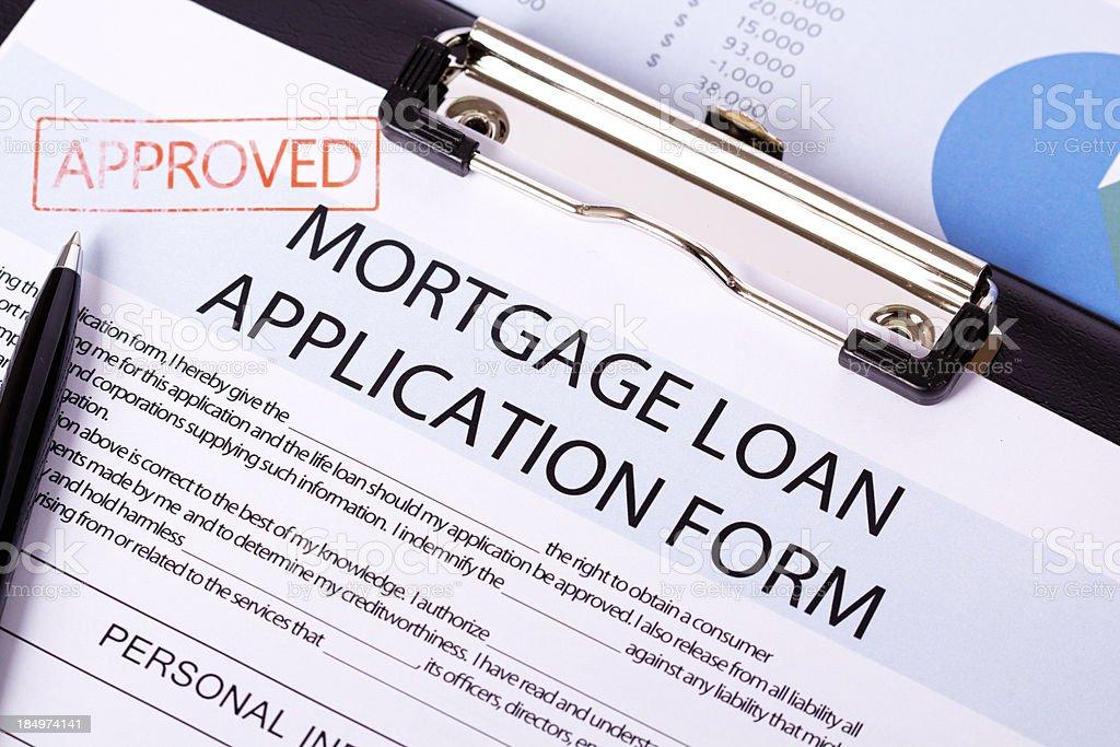 Mortgage Loan Application royalty-free stock photo