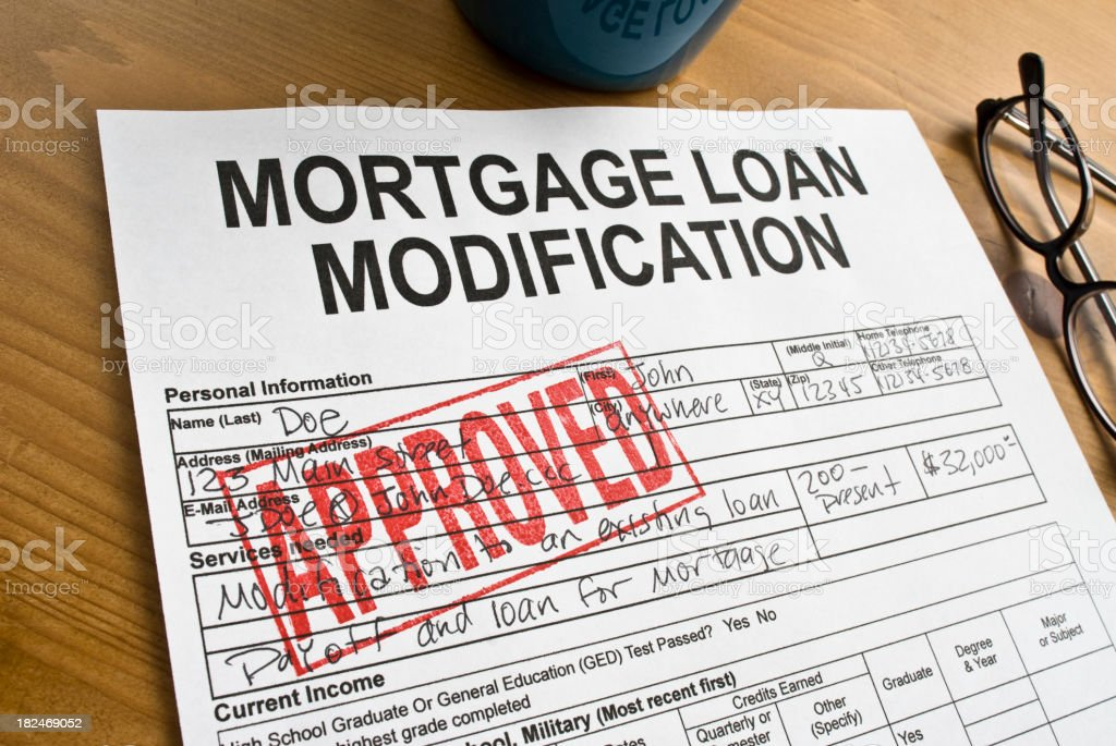 Mortgage Loan Modification royalty-free stock photo