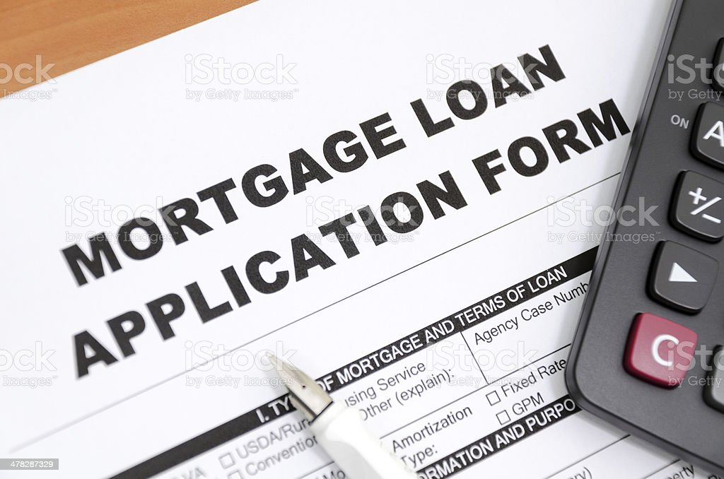 Mortgage loan royalty-free stock photo