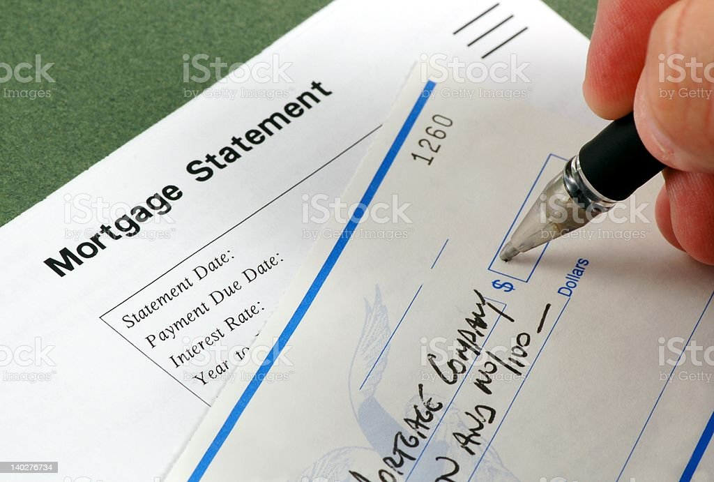 Mortgage Payment royalty-free stock photo