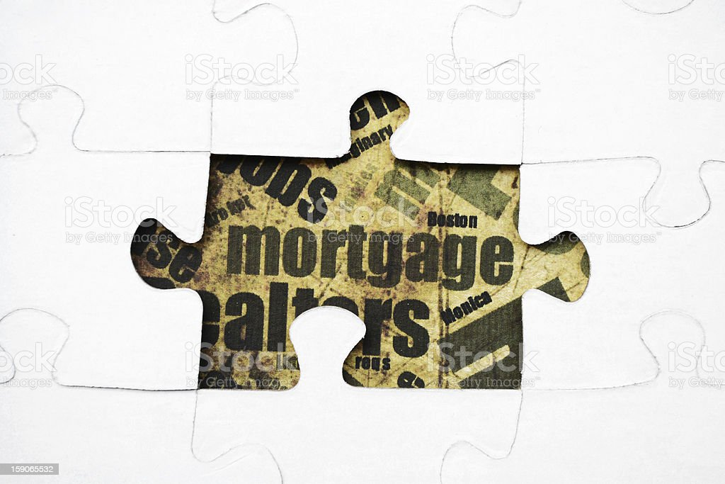 Mortgage puzzle royalty-free stock photo