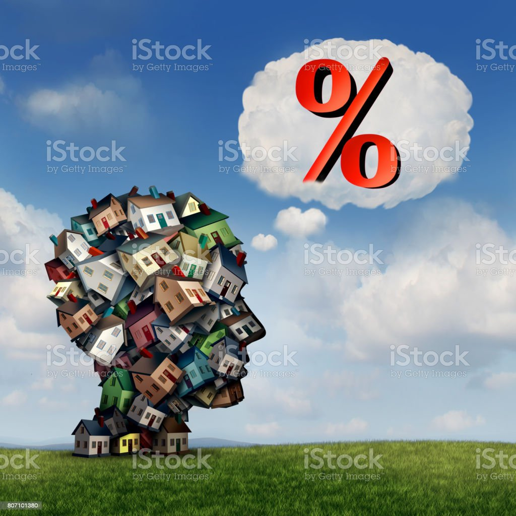Mortgage Rate Plan stock photo