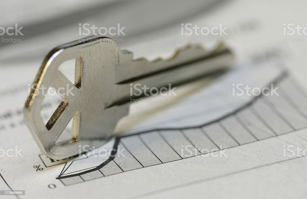 Mortgage Rates on the Rise royalty-free stock photo