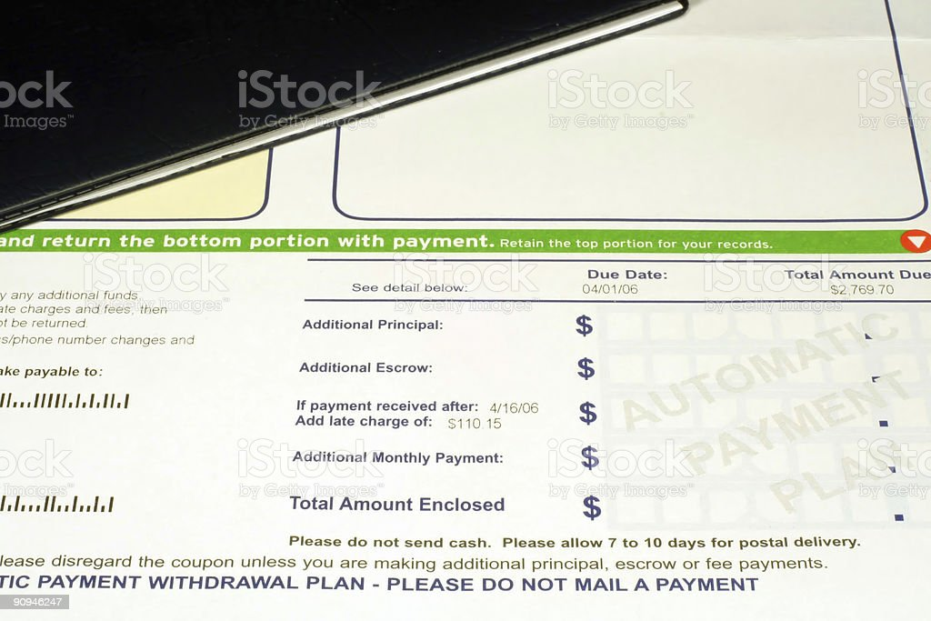 Mortgage Statement royalty-free stock photo