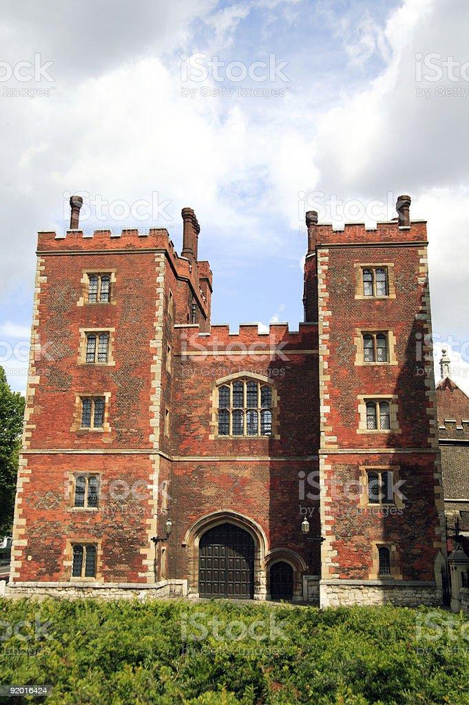 Morton's Tower Gatehouse Lambeth Palace stock photo