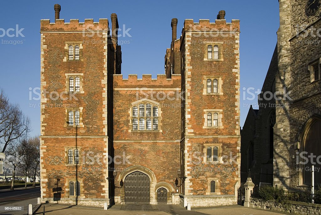 Morton's Tower Gatehouse - Lambeth Palace stock photo