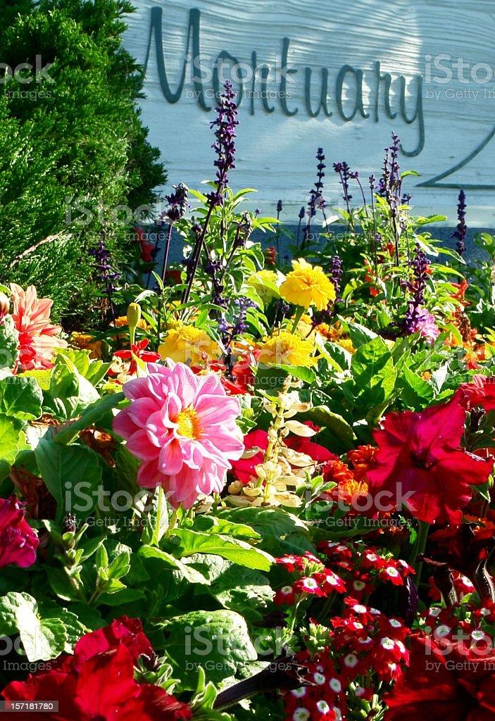 Mortuary Flowers stock photo