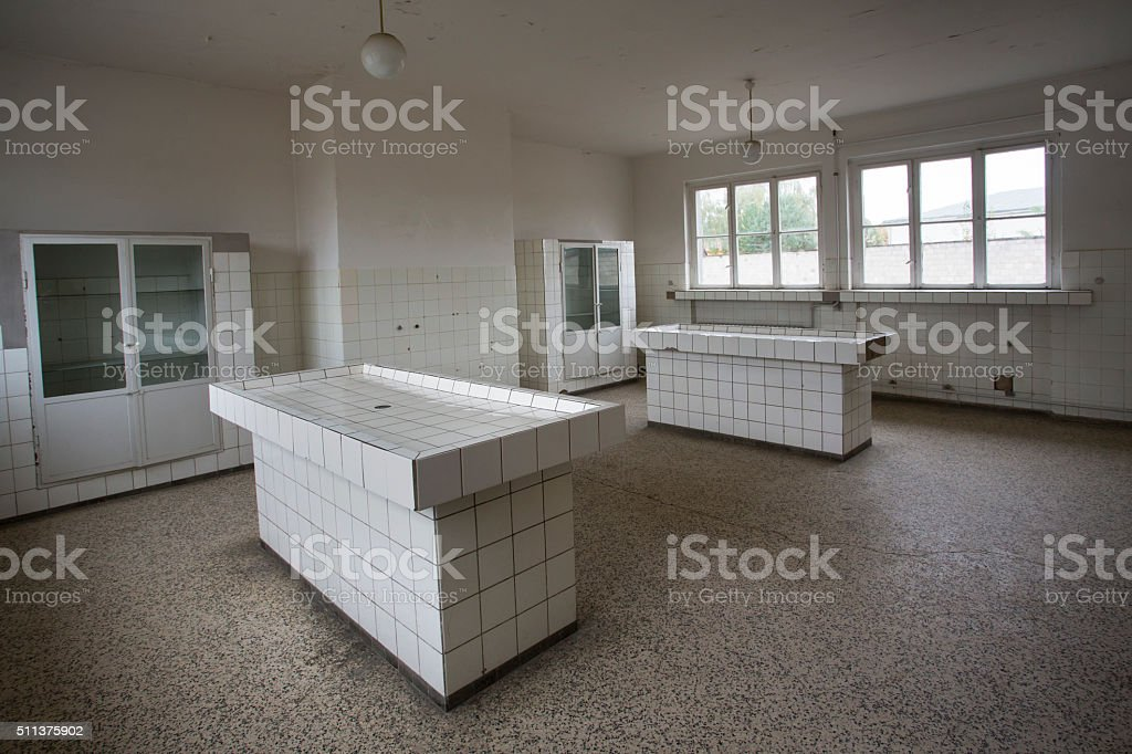 mortuary slabs stock photo