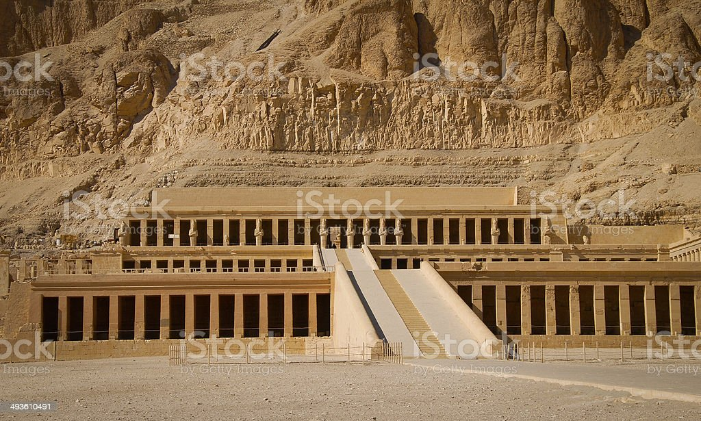 Mortuary Temple for Queen Hatshepsut, Egypt stock photo