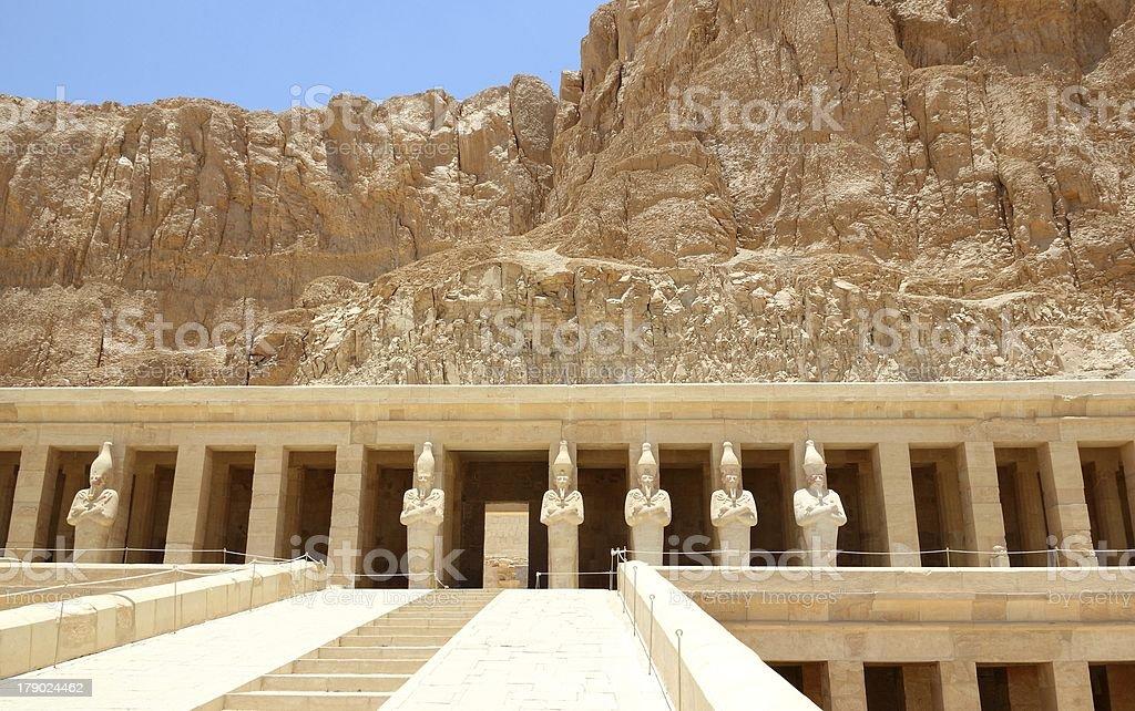 Mortuary Temple of Hatshepsut. royalty-free stock photo