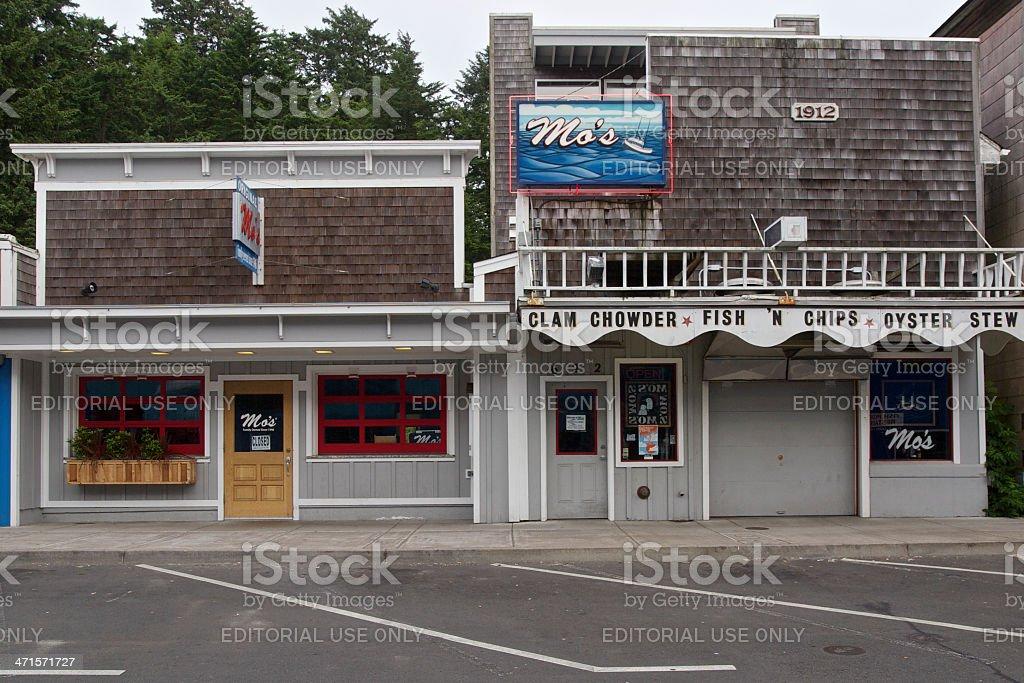 Mo's Original Restaurant Newport Oregon Bayfront Famous Clam Chowder royalty-free stock photo