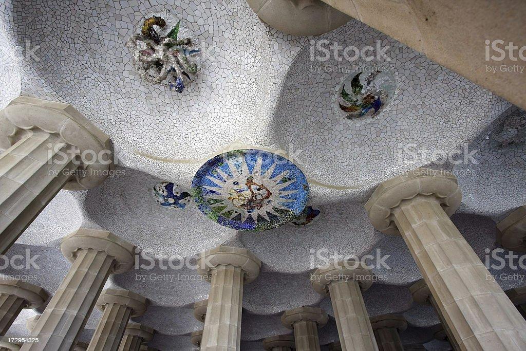 Mosaic and pillars royalty-free stock photo