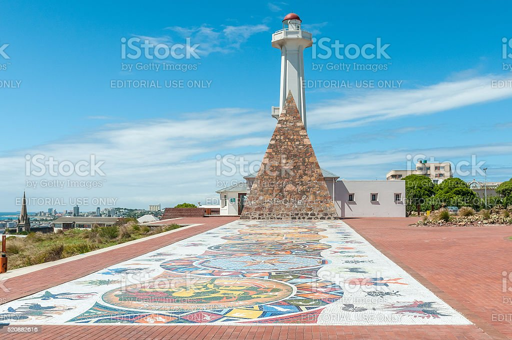 Mosaic art at Donkin Reserve along Route 67 stock photo