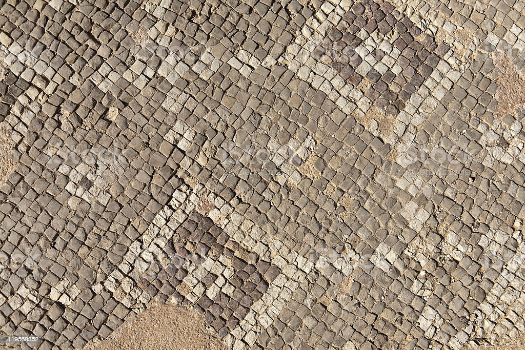 Mosaic at an Archaeological Site royalty-free stock photo