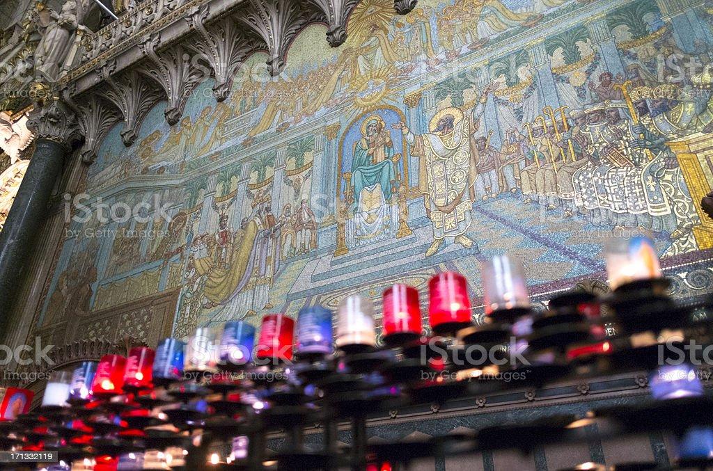 Mosaic at Basilica of Lyon stock photo