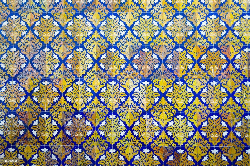 Mosaic at Spain square stock photo