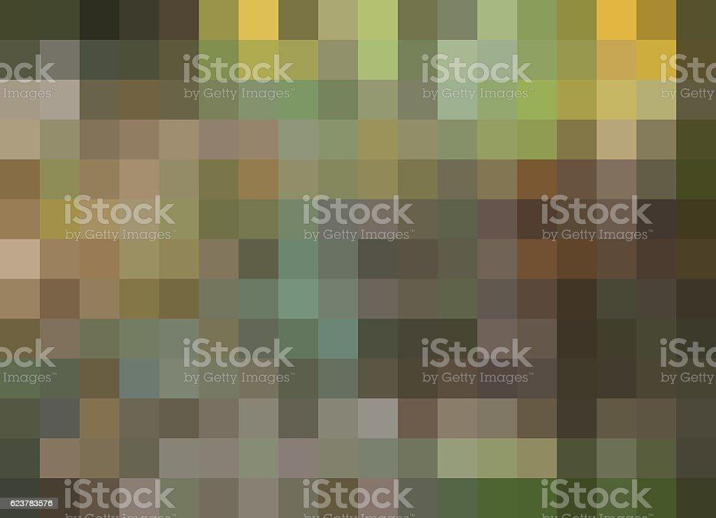 Mosaic Background, pixels background, aqua, green, brown, gold stock photo