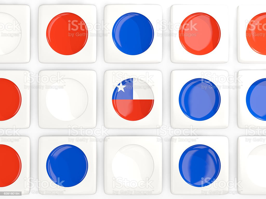 Mosaic background with flag of chile stock photo