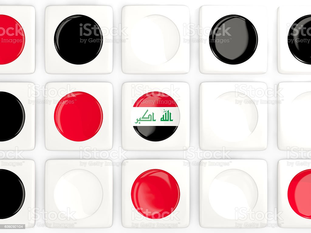 Mosaic background with flag of iraq stock photo
