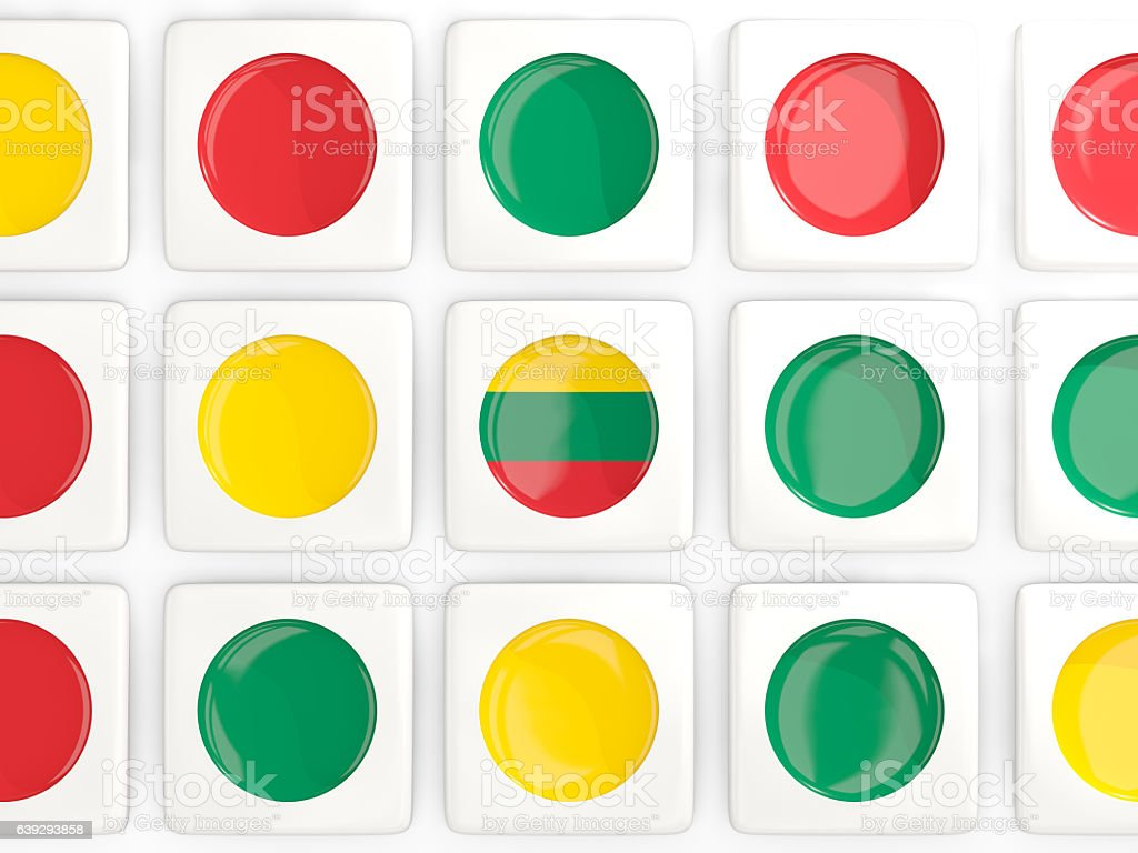 Mosaic background with flag of lithuania stock photo